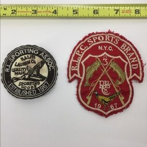 VTG RALPH LAUREN POLO SEW ON PATCHES 2 LOT
